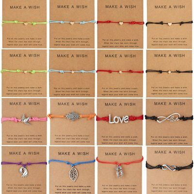 Friend Ship Bracelets (Lucky Wish Bracelets Tibetan Charm Friendship Best Friend Adjustable Bangle)