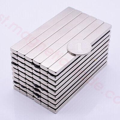 Lots 100mm X 10mm X 5mm Bar Block Rare Earth Neodymium Magnets N50
