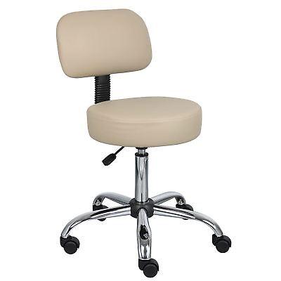 Rolling Medical Exam Stool Chair Doctor Dental Office Adjustable Furniture Beige