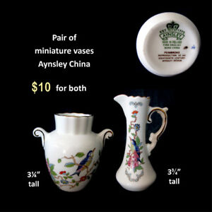 Aynsley China Miniature Vases