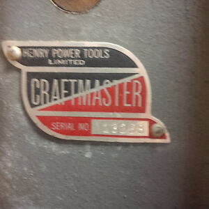 VINTAGE - CRAFTMASTER ELECTRIC TABLE SAW
