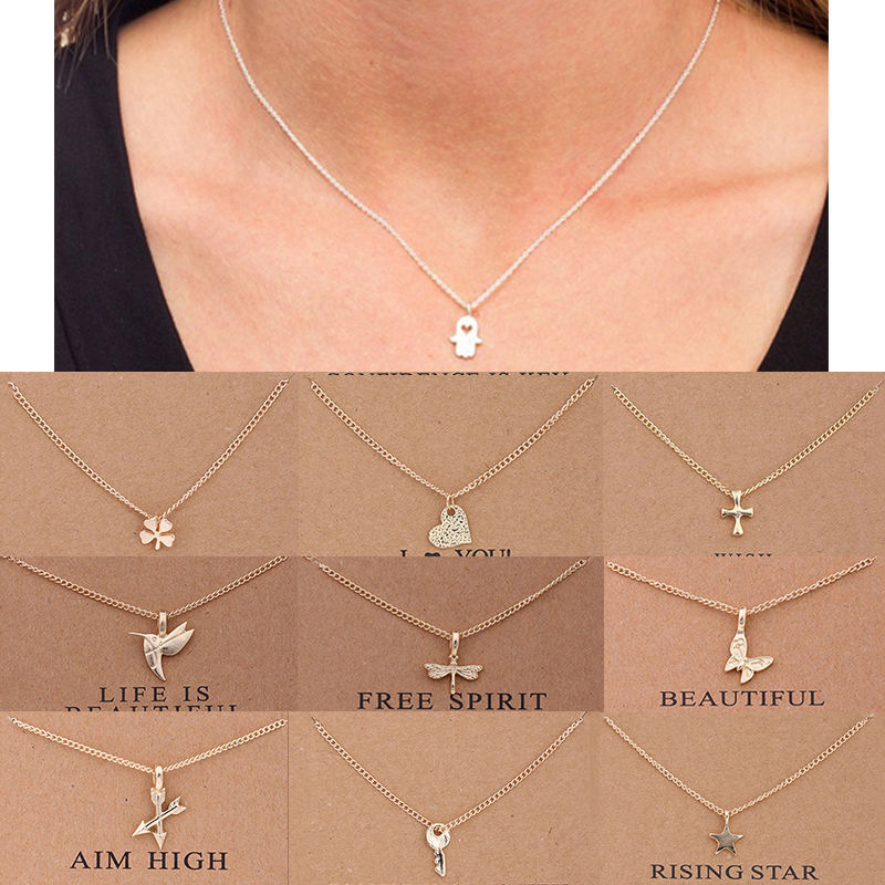 Jewellery - Women Necklace Pendant Gold Clavicle Chains Choker Card Jewelry Gift