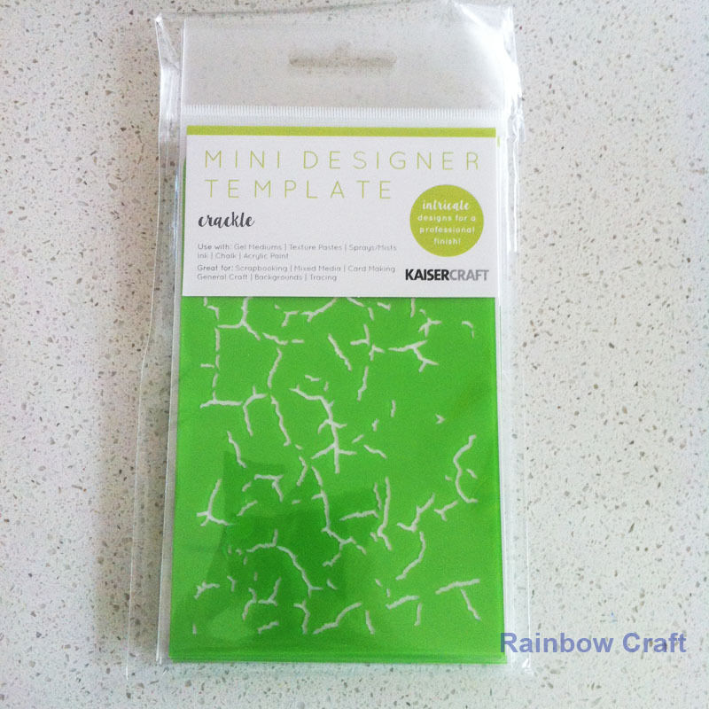Kaisercraft Mini Designer Templates Stencils Blossom Christmas Holly Leaves - Crackle