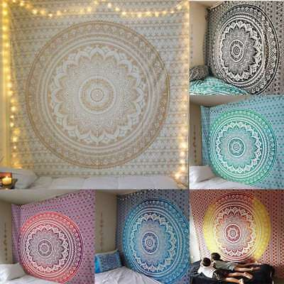 Mandala Tapestry Indian Wall Hanging Bohemian Hippie Twin Bedspread Throw - Hippie Home Decor