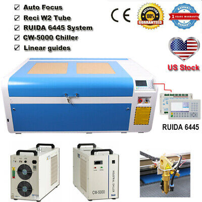 Dsp1060 100w Co2 Laser Cutting Machine Auto-focus Cw-5000 Chiller Reci Tube Rd