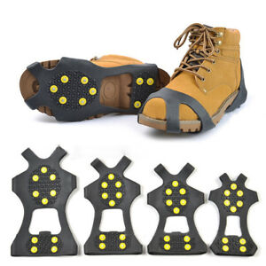 Anti Slip Shoe Boot Grips Ice Cleats Spikes Snow Gripper Non Slip Crampon Safe