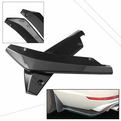 2X Schwarz Auto Rear Stoßstange Lippe Splitter Spoiler Flap Diffusor Universal