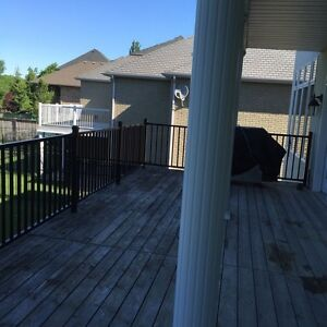 Black Deck Railings with posts and components