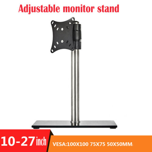 Single Monitor Holder,Adjustable Height, Hold up to 22lbs Anti-skid Pads