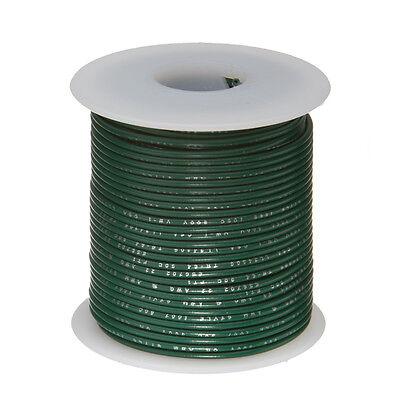 28 Awg Gauge Stranded Hook Up Wire Green 100 Ft 0.0126 Mil Spec 600 Volts
