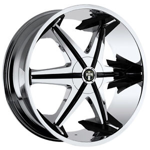 Used 22 x 9.5 Dub Shooz S145 Chrome Wheels 5x5 5x127 5x135 22""