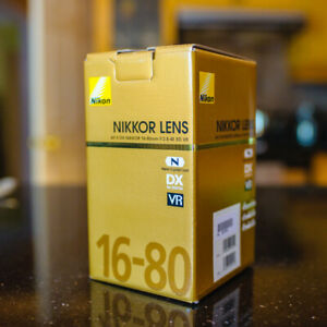 Nikon 16-80mm f/2.8-4E ED VR Lens - BRAND NEW IN BOX WITH WARRAN