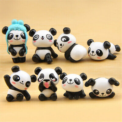 Cake Figurines Kids (8 Pcs Panda Toys Figurines Playset Cute Cake Decoration Pocket Toys)