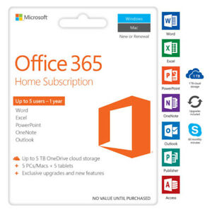 6 MONTH MICROSOFT OFFICE 365 HOME SUBSCRIPTION DIGITAL CODES