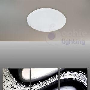 Plafoniera lampada soffitto led 9w design moderno plastica bianca ingresso bagno ebay - Lampada bagno soffitto ...