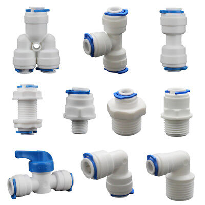 Push-fit Pipe Fittings (5PCS Push Fit Pipe Fittings Elbow Tee Y-shape Valve Connector For Water Aquarium)