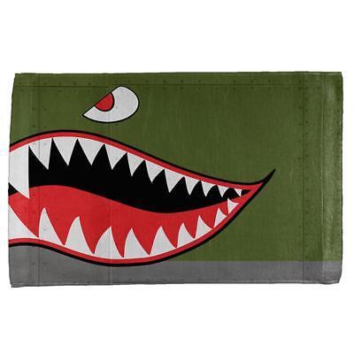 Halloween WWII Flying Tiger Fighter Shark Nose Art All Over Hand Towel](Tiger Nose Halloween)