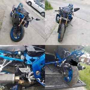 "Selling 2003 gsxr 1000 ""crashed"""