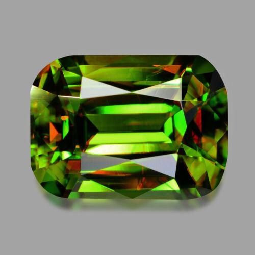 0.98cts WONDERFUL CUSHION CUT AFGHAN CHROME GREEN SPHENE VIDEO IN DESCRIPTIO
