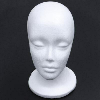 White Foam Female Mannequin Head Model Hat Wig Jewelry Styrofoam Shop Display