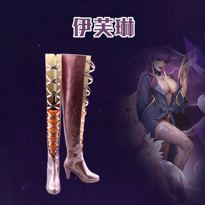Newest LOL KDA Skin Evelynn Cosplay Shoes High Heel Boots Halloween Y.2015