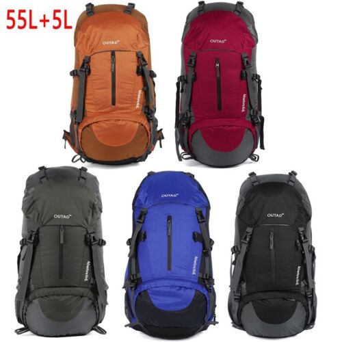 OUTAD 55L+5L Outdoor Sports Day Pack Climbing Hunting Camping Hiking Backpack BE
