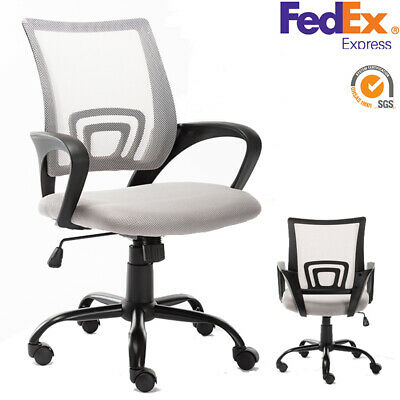 Office Computer Desk Chair Mesh Executive Swivel Adjustable Ergonomic Task Gray