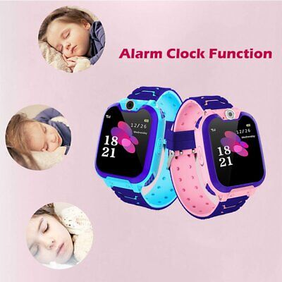 Kids Tracker Smart Watch Phone GSM SIM Alarm Camera SOS Call for Boys Girls