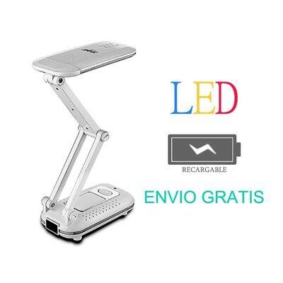 LAMPARA DE NOCHE LAMPARITA LUZ LED RECARGABLE PARA MESA ESCRITORIOBAJO CONSUMO