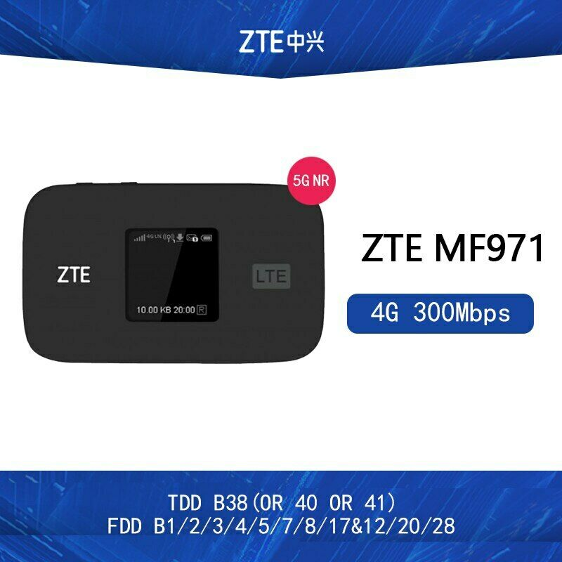 ZTE MF971V Cat6 WiFi Hotspot Router 4G LTE Bands 1/2/3/4/5/7