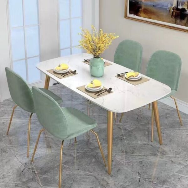 TMDT 08 CSC 020 Marble Dining/Outdoor Table, Dining Chair