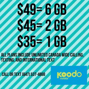 Koodo Plans $49 6 GB