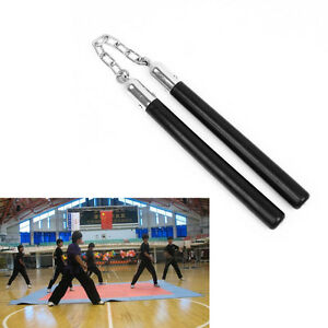 Martial Arts Training Ninja Nunchuck Rubber Training Nunchaku Stick In Kung fu