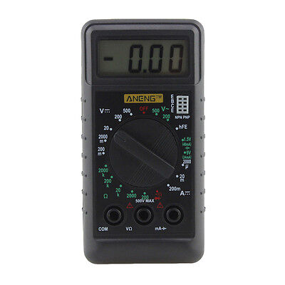 Digital Lcd Multimeter Backlight Acdc Auto Range Ohm Ammeter Tester Pro