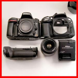 Nikon D610 FX DSLR, 17000 shutter counts, grip, silicone case