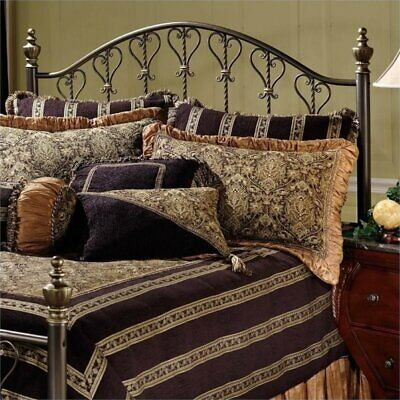 Bowery Hill Full Queen Metal Spindle Headboard in Bronze