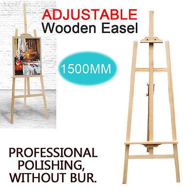 5ft (1500MM) PINE WOOD WOODEN STUDIO EASEL  ARTIST ART CRAFT DISPLAY PAINTING