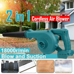 21V 6000mAh Garden Yard Cordless Leaf Snow Blower Air Vacuum Lightweight 2-in-1