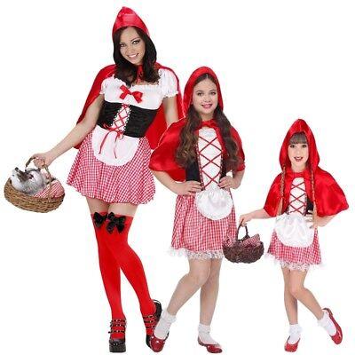 Rotkäppchen Partner Kostüm für Damen Mädchen Kleinkinder - Karneval (Rotkäppchen Kostüm Mädchen)