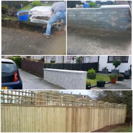 builder.(fencing)roughcasting rendering roofer brick laying Plast