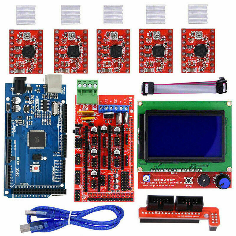3D Printer Kits RAMPS 1.4 Mega2560 12864 LCD Controller A4988 for Arduino Reprap