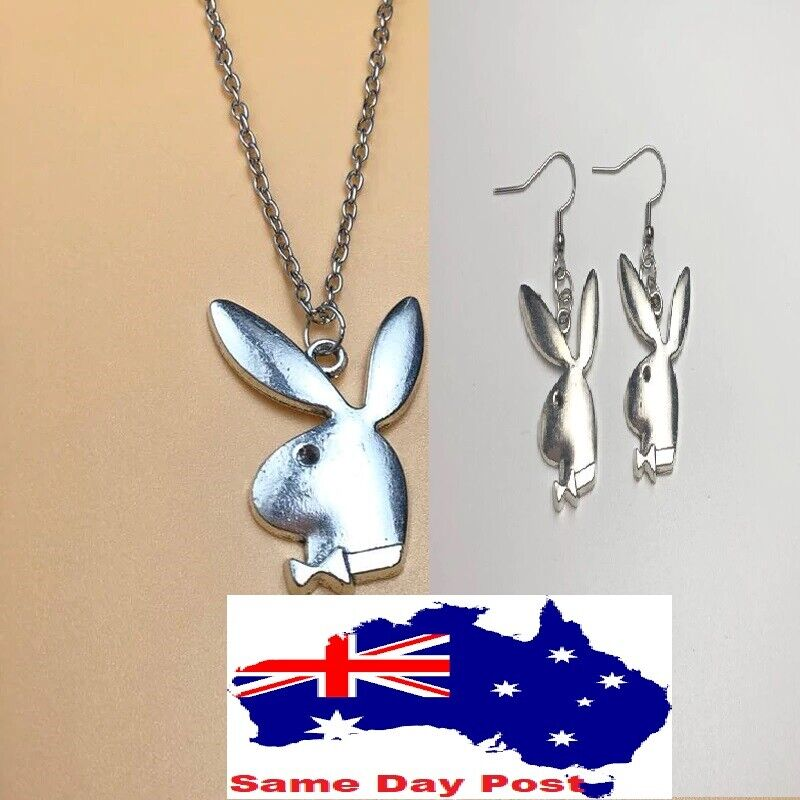 Jewellery - 2020 new  kpop Playboy Necklace Playboy Earrings Rabbit Bunny Pendant Necklace