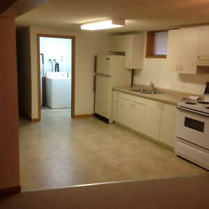 Timmins, spacious 2 bedroom basement apartment