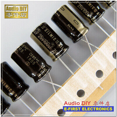 5pcs50pcs Elna Silmic Ii 100uf25v 100uf 10x16mm Audio Electrolytic Capacitor