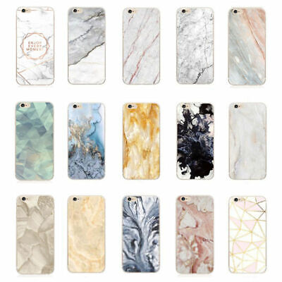 Granite Marble Soft Silicone Phone Case Skin Cover For iPhone 5 6 7 8 Plus