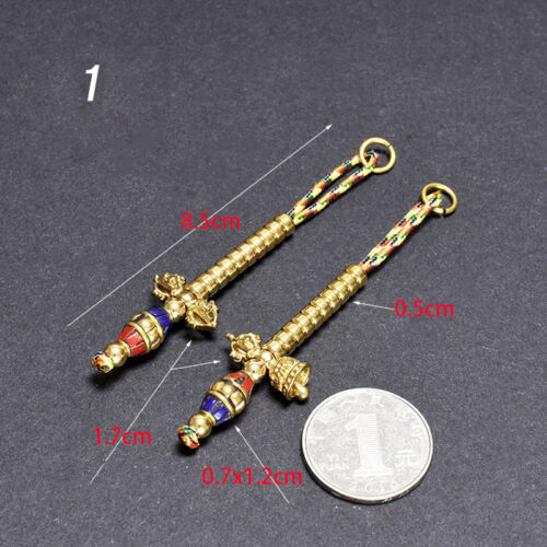 BLESSED TOP QUALITY DIY TIBETAN MALA COUNTER SET:  DORJE & BELL FOR 6-9MM BEADS