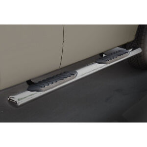 """Side Steps 4-1/2"""" Stainless - 99-16 - Ford Super Duty - Ext Cab"""