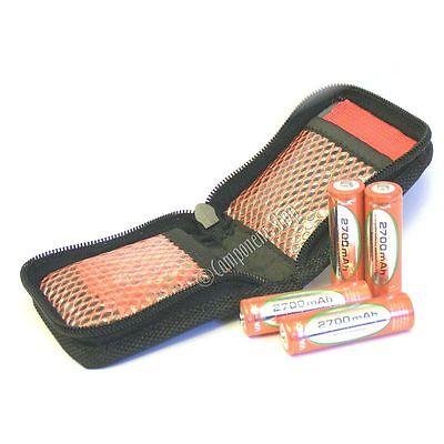 ZIP-UP WALLET for 8x AA or AAA batteries NiMH/NiCd etc