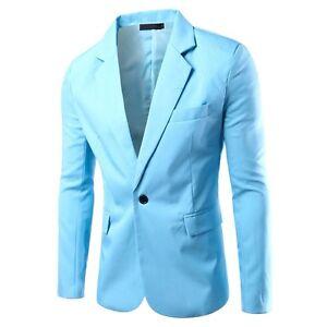 Men's SkyBlue Slim Fit Suit Jacket Ziggy Stardust M&L 2 available Sans Souci Rockdale Area Preview