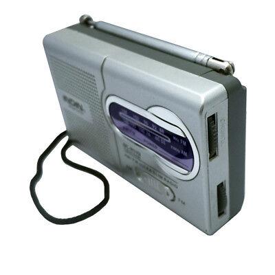 New AM/FM Mini Portable Pocket Telescopic Antenna Battery Powered Receiver Radio segunda mano  Embacar hacia Argentina